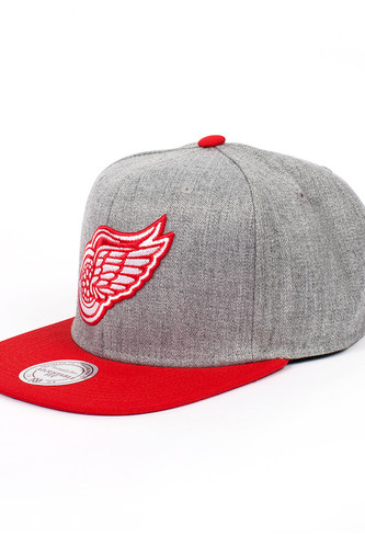 Бейсболка MITCHELL&NESS Detroit Red Wings EU043 (Grey, O/S)