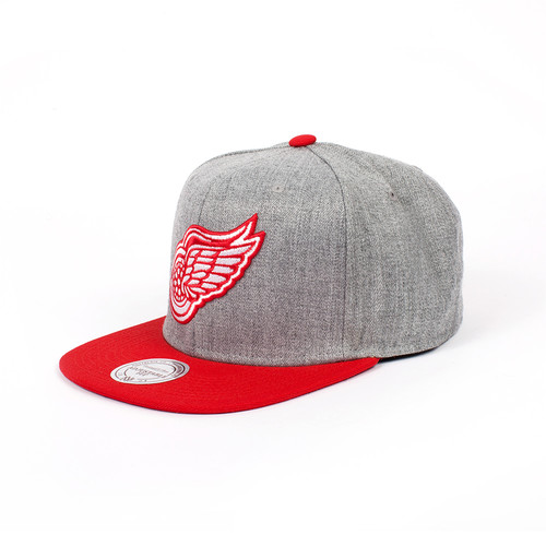 Бейсболка MITCHELL&NESS Detroit Red Wings EU043 (Grey, O/S)