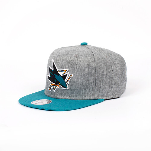 Бейсболка MITCHELL&NESS San Jose Sharks EU043 (Teal, O/S)