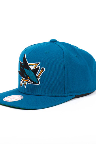 Бейсболка MITCHELL&NESS San Jose Sharks NZ980 (Teal, O/S)
