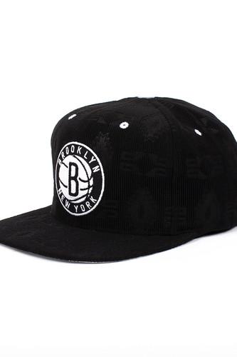 Бейсболка MITCHELL&NESS Brooklyn Nets Strapback NZ66Z (Black, O/S)