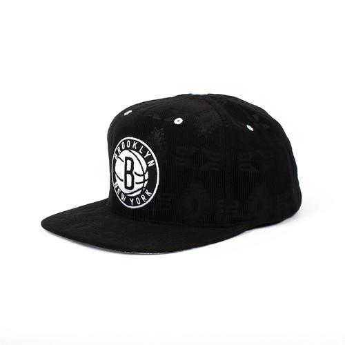Бейсболка MITCHELL&NESS Brooklyn Nets Strapback NZ66Z (Black, O/S) стоимость