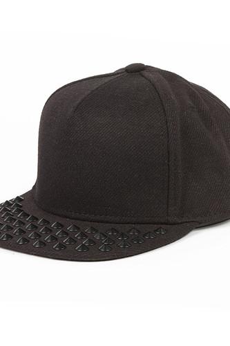 Бейсболка FLAT FITTY Black Studded (Black, O/S) бейсболка backyard cartel splash black o s