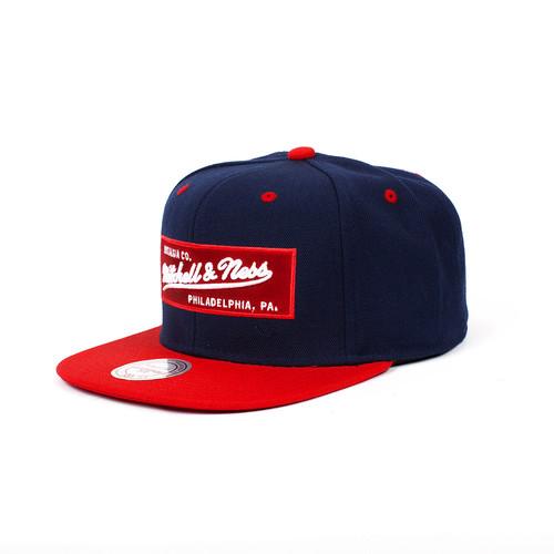 Бейсболка MITCHELL&NESS Own 2 Tone Logo (Navy/Red, O/S) бейсболка пятипанелька huf memphis box logo volley navy