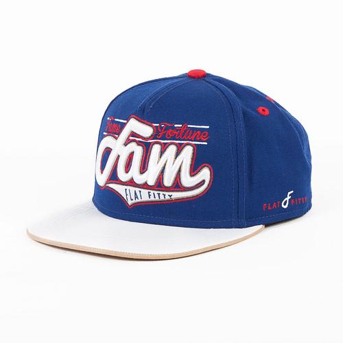 Бейсболка FLAT FITTY Fam (Blue-Red-White-FF-96700, O/S)