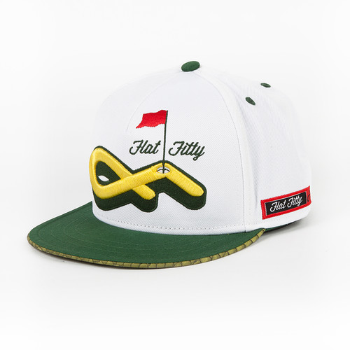 Бейсболка FLAT FITTY Master Gator (White-Green-Yellow-FF-91100, O/S)