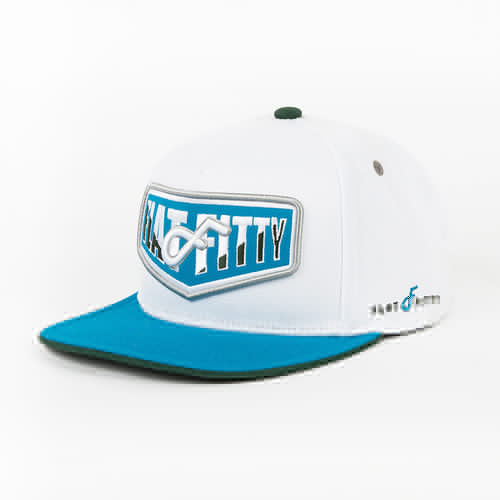 Бейсболка FLAT FITTY Vengers (White-Teal-FF-92100, O/S)