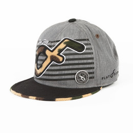 Бейсболка FLAT FITTY Famo Grey-Black-Camo FF-97100 фото