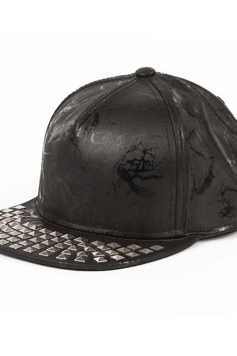 Бейсболка FLAT FITTY Grey Studded (Black, O/S)