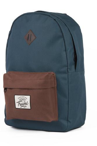 Рюкзак TRAVEL 2 (Синий/Коричневый-061016008)