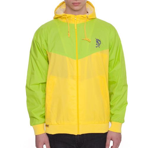 Ветровка PYROMANIAC Tropica Windbreaker (Lime/Yellow, S) толстовка pyromaniac smooth navy yellow xl