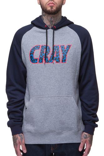 Толстовка CAYLER & SONS Cray Raglan Hoody (Grey-Heather-Navy-Blue-Leopard, L) цена