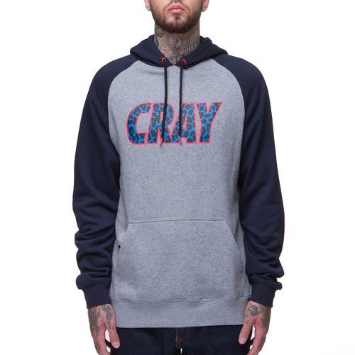 цены на Толстовка CAYLER & SONS Cray Raglan Hoody (Grey-Heather-Navy-Blue-Leopard, L)  в интернет-магазинах