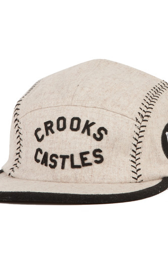 Бейсболка CROOKS & CASTLES Players Club 5 Panel Cap (Ghost, O/S)