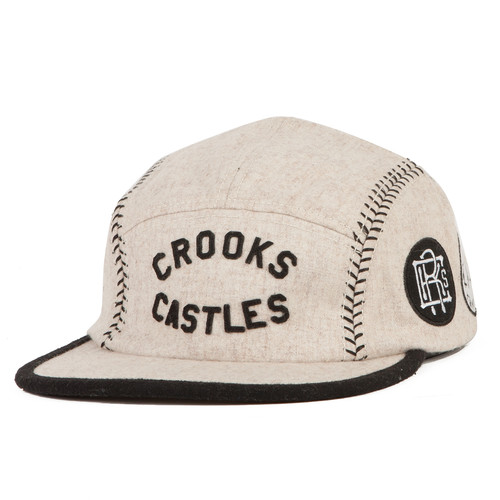 Бейсболка CROOKS & CASTLES Players Club 5 Panel Cap (Ghost, O/S) бейсболка obey washington 5 panel olive o s