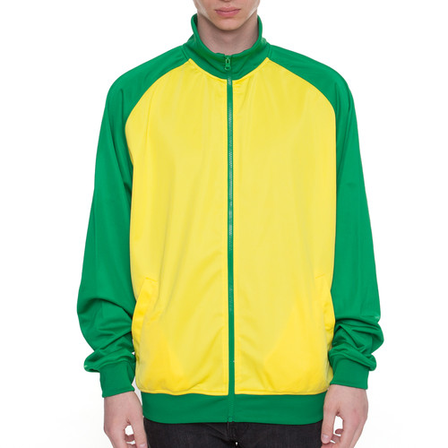 Олимпийка URBAN CLASSICS Sports Track Jacket Raglan (Green/Yellow, 2XL) куртка urban classics long bomber jacket black 2xl