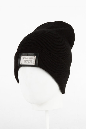 Шапка CAYLER & SONS Patched Beanie (Black/Black)