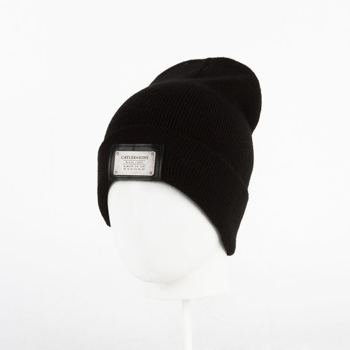 Шапка CAYLER & SONS Patched Beanie (Black/Black) pocket patched zipper up faux patent skirt