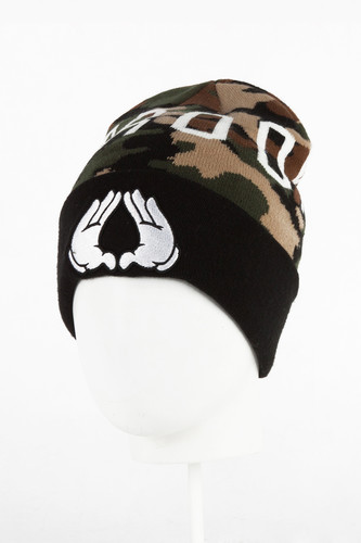 Шапка CAYLER & SONS Plated Old School Beanie (Woodland/Black-02)