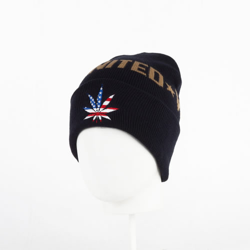 купить Шапка CAYLER & SONS United We Smoke Old School Beanie (Navy/Usa/Gold) по цене 630 рублей