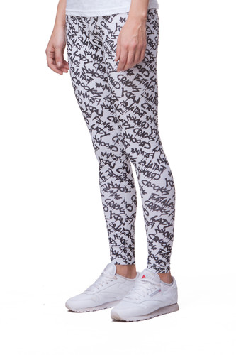 Леггинсы CROOKS & CASTLES Crooks Street Leggings (White/Black, M)