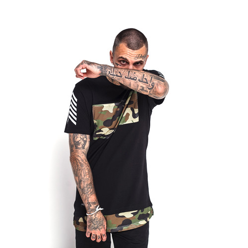 Футболка CAYLER & SONS Legend Long Tee (Black/Camo, M)