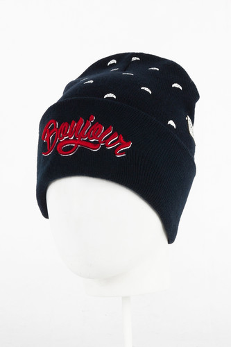 Шапка CAYLER & SONS Bonjour Old School Beanie (Navy/Red/White) цена