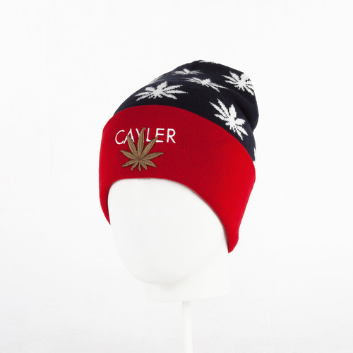 купить Шапка CAYLER & SONS Best Budz Old School Beanie (Navy/Red/White) по цене 630 рублей