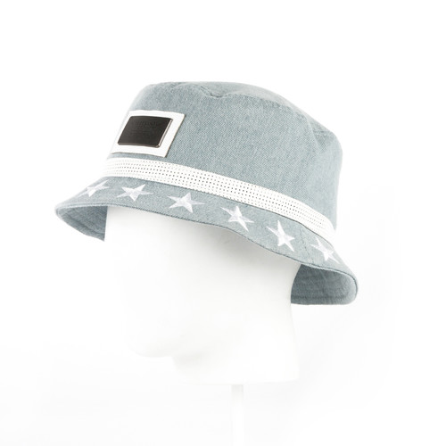 Панама CAYLER & SONS Stars Studded Bucket Hat (Light Blue Denim/White-02, S/M)