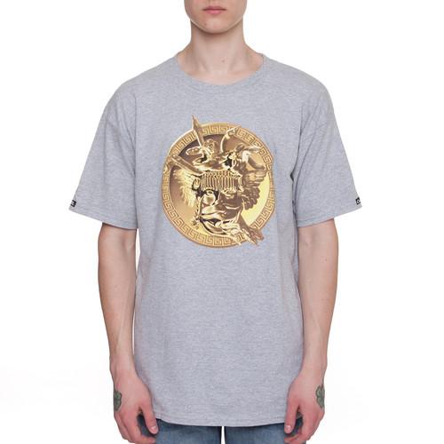 Футболка CROOKS & CASTLES Gold Plated Medusa Crew T-Shirt (Heahter Grey-2, XL) футболка norveg soft t shirt размер xl 673 14sw3rs 014 xl grey melange