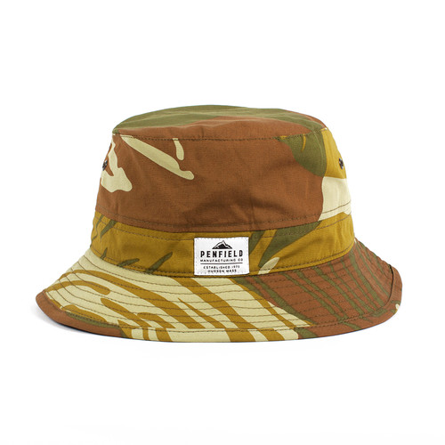 Панама PENFIELD Acc Baker Camo Sun Hat (Olive, S/M) unique long band decorated adjustable sun hat