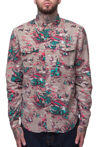 Рубашка MISHKA Duck Hunt Button Up (Tan, L) рубашка mishka duck hunt button up tan l