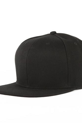 Бейсболка TRUESPIN Blank Snapback (Black, O/S)