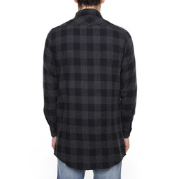 Рубашка URBAN CLASSICS Long Checked Flanell Shirt Black/Charcoal фото 2