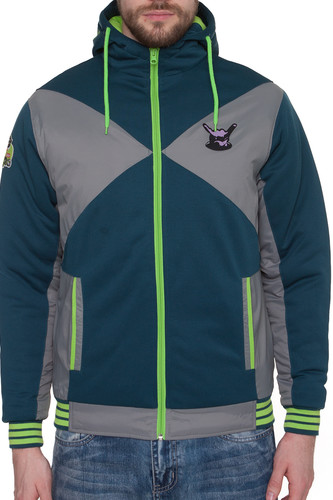Толстовка PYROMANIAC Gee-force Fx Ziphoody (Petrol-Grey, M)
