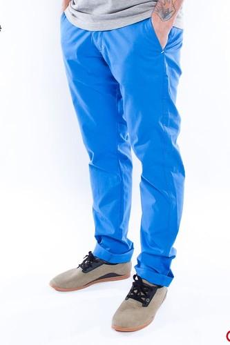 Брюки TURBOKOLOR Slim-fit Chinos (Pastel-Blue, 30/32) цена
