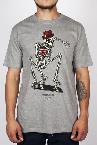 Футболка TURBOKOLOR Skeletor Ss14 (Grey-Heather, L)