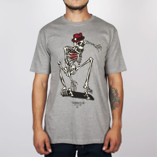 Футболка TURBOKOLOR Skeletor Ss14 (Grey-Heather, L) футболка turbokolor pocket slim fit ss13 heather red m