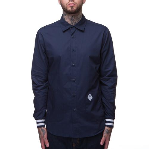 Рубашка CROOKS & CASTLES - Convict L/S Shirt (True Navy, XL) рубашка norveg soft shirt размер xl 663 14sw1rl 014 xl gray