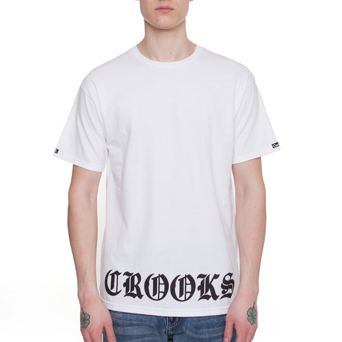 Футболка CROOKS & CASTLES Bonafide Crooks (White, M) футболка crooks