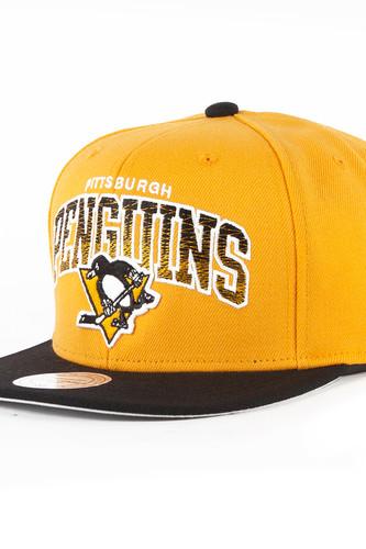 Бейсболка MITCHELL&NESS Pittsburgh Penguins EU092 (Yellow, O/S)