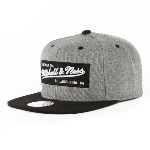 Бейсболка MITCHELL&NESS Box Logo M&N Own Snapback NE18Z (Grey Heather/Black, O/S) все цены