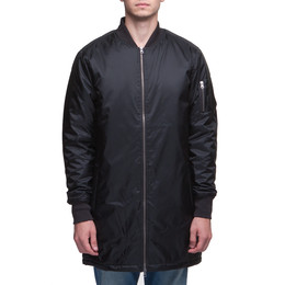 Куртка URBAN CLASSICS Long Bomber Jacket Black фото