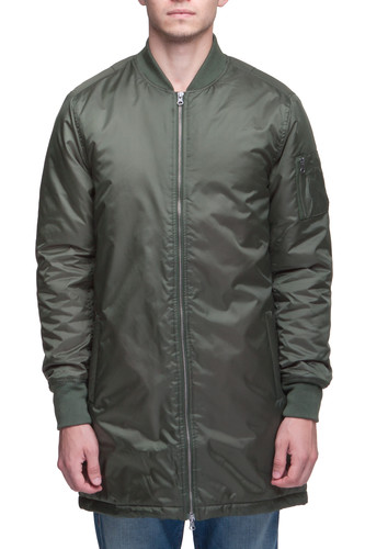 цена на Куртка URBAN CLASSICS Long Bomber Jacket (Olive, S)