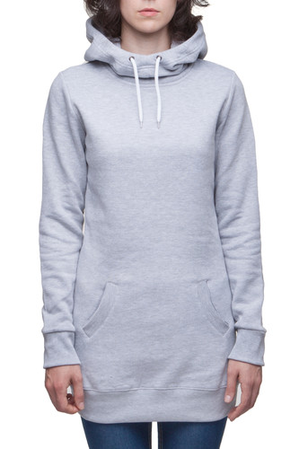 Толстовка URBAN CLASSICS Ladies Long Sweat Hoody (Grey, M)