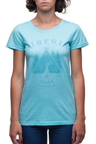 футболка женская oodji ultra цвет бежево розовый 14701005 7b 46147 4b00n размер s 44 Футболка ТАЙГА Native женская (Бирюзовый, S)