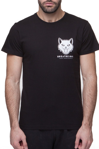 Футболка BREATHE OUT Reaper Cat T-Shirt (Черный, L)