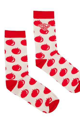 Носки ЗАПОРОЖЕЦ Помидоры женские (Белый/Красный, O/S) цена
