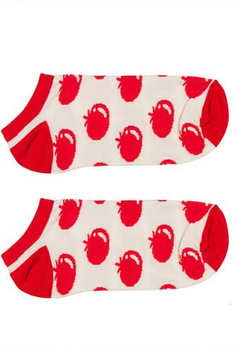 Носки ЗАПОРОЖЕЦ Помидоры короткие женские (Белый/Красный, O/S) цена
