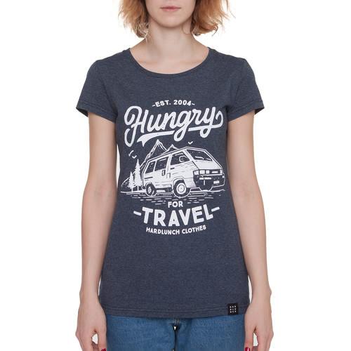 Футболка HARDLUNCH Travel F16/1 женская (Indigo Melange, L) футболка hardlunch travel f11 1 light grey melange 2xl